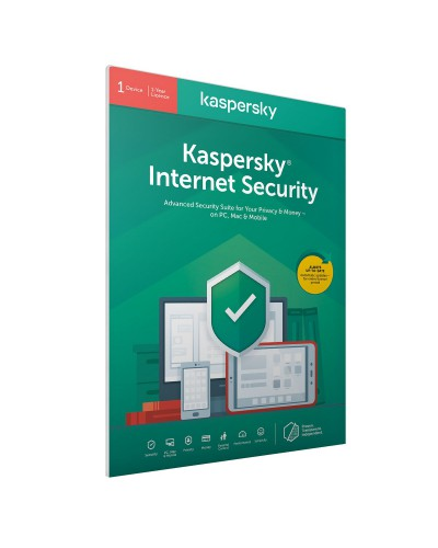 Kaspersky Internet Security 2020 1 лиценз 1 година BOX