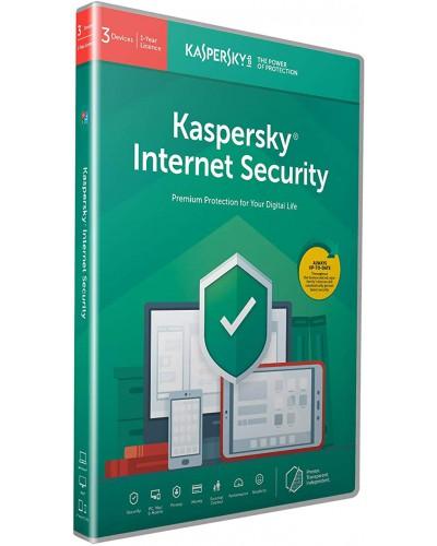 Kaspersky Internet Security 2020 3 лиценза 1 година Box