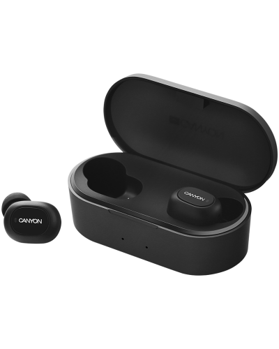Безжични слушалки с микрофон Canyon TWS CND-TBTHS2B Bluetooth sport  BT V5.0 Black