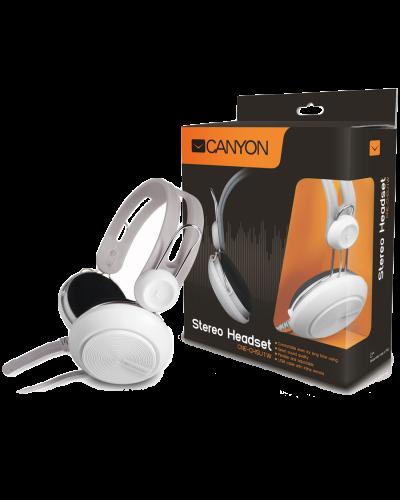 Слушалки с микрофон Canyon CNE-CHSU1W USB