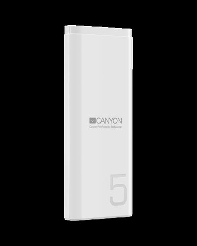 Power bank Canyon CNE-CPB05W 5000mAh 5V/2.1A  White