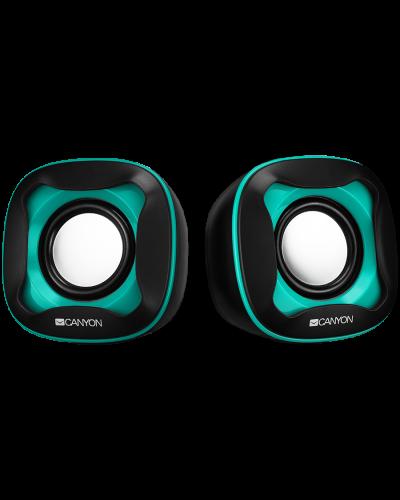 Тонколони Canyon CNS-CSP202 USB 2.0 Speaker black+light blue