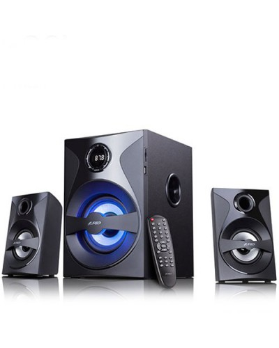 Tонколони F&D F380X 2.1 Channel Surround 54W USB, card reader FM, digital Remote Control Black