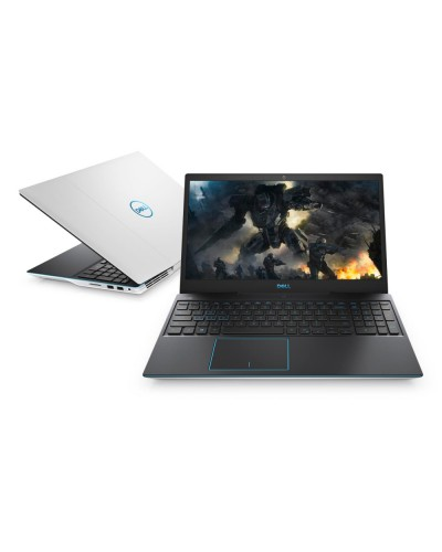 "Лаптоп Dell G3 3590 15.6"" WVA AG Core i5-9300H 8GB 512GB M.2 PCIe NVMe SSD GeForce GTX 1660Ti 6GB Win10 Alpine White with blue accent"