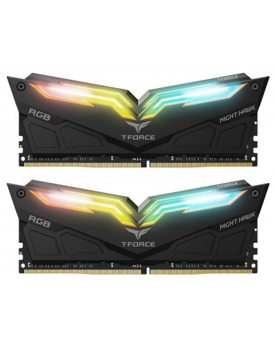 Памет Team Group T-Force NIGHT HAWK RGB 16GB(2x8GB) DDR4 3600MHz CL18-20-20-44 1.35V Черен