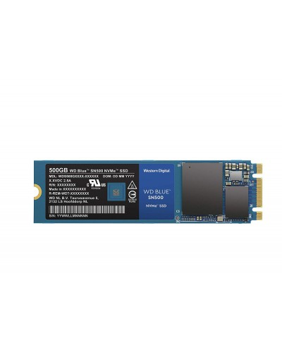 Твърд диск SSD WD Blue SN500 500GB M.2 2280 PCIe Gen3 NVMe read/write up to 1 700/1 450MB/s 5 years