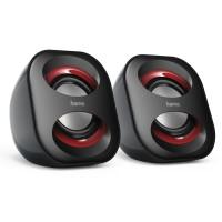 Тонколони HAMA Sonic Mobil 183 USB захранване 3W черно и червено  HAMA-173131