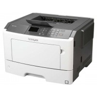 Lexmark MS415dn - 38 ppm; 1200 x 1200 dpi; 256MB; Duplex; Gigabit LAN, USB 2.0; 2.4'' colour LCD