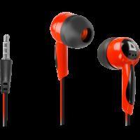 Слушалки за поставяне в ушите Defender Basic 604 Black + red