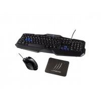 Геймърски комплект клавиатура+мишка+пад Hama uRage Starter USB black