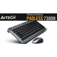 Комплект мини безжични клавиатура и мишка A4tech 7300N