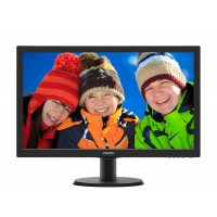 "Монитор Philips 243V5QHABA 23.6"" MVA 8ms 3000:1 10M:1 250cd 1080p D-Sub DVI HDMI Speakers Black"