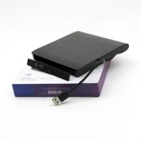 Външна USB 3.0 кутия за монтиране на оптично устройство DVD-RW SATA 9.5mm - черна