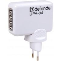 Адаптор 220V/ 5V 2.1А  4 x USB Defender UPA-04