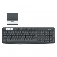 Клавиатура Logitech K375s Multi-Device Wireless Keyboard and Stand Combo, Graphite/Offwhite