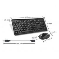 Комплект клавиатура и мишка A4tech 4200N Безжичен мишка V-track Черен