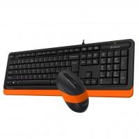 Комплект клавиатура и мишка A4TECH Fstyler F1010 USB Черен/Оранжев