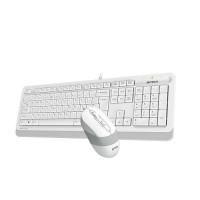 Комплект клавиатура и мишка A4TECH Fstyler F1010 USB Бял