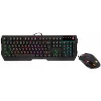 Геймърски комплект A4tech Bloody Illuminate Q1300 клавиатура мишка, черен