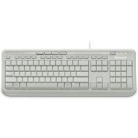 Клавиатура Microsoft Wired Kbrd 600 USB Port Eng Intl Euro Hdwr White, БДС
