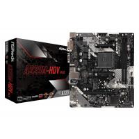 Дънна платка Asrock A320M-HDV R4.0 sAM4 2xDDR4 M.2 VGA DVI HDMI USB3.2