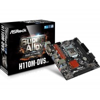 Дънна платка ASROCK H110M-DVS R3.0 s1151 mATX DDR4