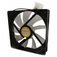 Вентилатор за кутия DELUX CF4 120 мм ЗЕЛЕН LED