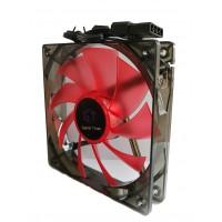 Вентилатор за кутия DELUX CF4 120 мм RED LED