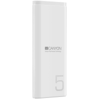 Power bank Canyon CNE-CPB05W 5000mAh 5V/2.1A  White