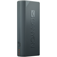 CANYON Power bank 4400mAh (Color: White) built-in Lithium-ion battery output 5V2A input auto-adjust 5V1A-2A Dark Gray