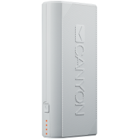 CANYON Power bank 4400mAh (Color: White) built-in Lithium-ion battery output 5V2A input auto-adjust 5V1A-2A White