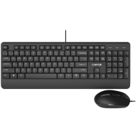 Комплект клавиатура и мишка Canyon CNE-CSET4 USB BG layout