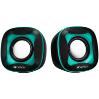 Тонколони Canyon CNS-CSP202 USB 2.0 Speaker black+light blue