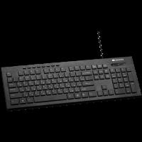 Клавиатура Canyon CNS-HKB2-US Ultra slim keyboard with side LED lights USB black