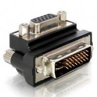 Адаптер DeLock VGA женско- DVI мъжко  90°