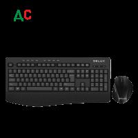 Комплект безжични клавиатура+мишка Delux K6060G+M517GX