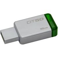 Флаш памет USB Kingston DataTraveler 50 16GB USB3.0 Metal/Green DT50/16GB