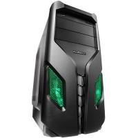 Кутия Raidmax EXO 108BG ATX без захранване черно/зелена