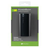 Външна батерия Power Bank GPC05000 5200mAh черна