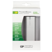 Външна батерия Power Bank GP GPFN05000 5200mAh Li-Ion