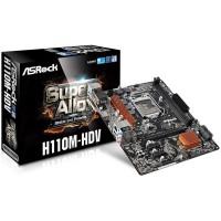 Дънна платка ASROCK H110M-HDV S1151 2xDDR4 micro ATX retail