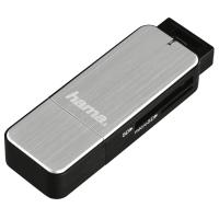 Четец за карти HAMA 123900 USB3.0 SD/microSD сребрист