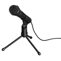 Настолен микрофон HAMA MIC-P35 Allround, за PC/лаптоп, 3.5 mm жак, Черен