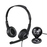 Комплект за стрийминг HAMA 139998  Слушалки с микрофон HS-P150  Камера Spy Protect 720P Черен