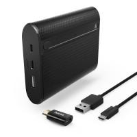 Външна батерия HAMA Power Pack X10 10 400mAh USB/USB-C черна