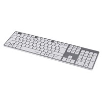 Клавиатура Rossano сивo-бяла USB безшумни клавиши