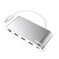 8-портов хъб HAMA USB-C  3xUSB-A 2xUSB-C VGA HDMI LAN