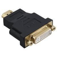 Адаптер HAMA 34036 DVI-D Dual Link женско - HDMI мъжко, Позлатени конектори, Екраниран, 3 Stars