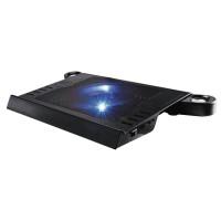 """Охлаждащ пад за лаптоп HAMA Aluminium вградени говорители 13,3"""" - 15,6"""" Черен"""