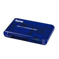 Четец за карти HAMA 55348 USB 2.0 35 in 1-син